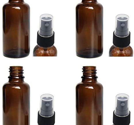 Lot de 4 flacons spray 30 ml en verre ambré