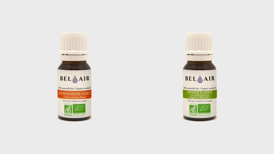 Nouvelles huiles essentielles bio : la Mandarine Verte, et la Marjolaine à Coquilles