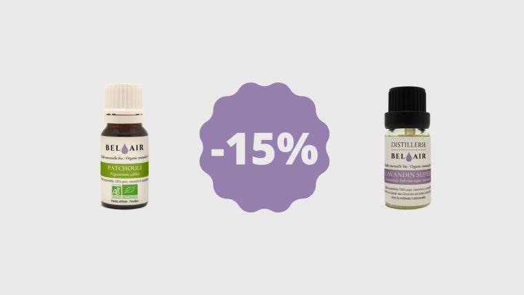 Promotion sur les huiles essentielles de Patchouli et Lavandin Super